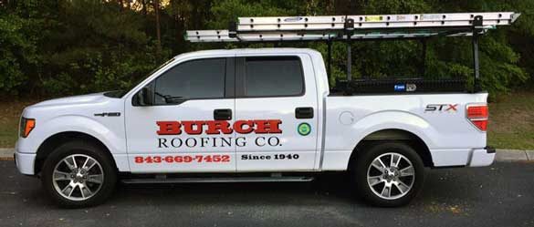 Burch Roofing Company truck